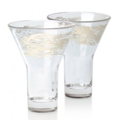 ILLY ART COLLECTION 2005 SET Of 2 CAFFE' FREDDO SERSE ROMA COFFEE GLASSES N.I.B