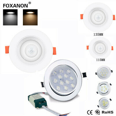 5w15w20w PIR Infrared Motion Sensor LED Recessed Ceiling Downlight Panel Light