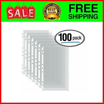"""100/Box Legal Size Clear Heavyweight Poly Sheet Protectors ,8.5"""" x 14"""""""
