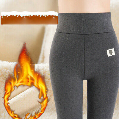 Women Winter Thick Trousers Fleece Lined Thermal Stretchy Leggings Pants LIU9