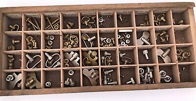 Assorted Alarm Clocks Watchmakers Tool Spares Buttons Keys Screws Mixed 3WC