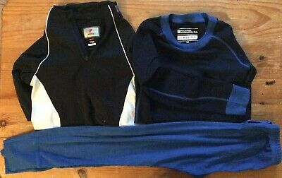Childrens Thermals. Merino Wool Top. Isotherm Bottoms. Nevica Top  USED Age 7-8