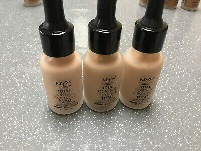 3 x 13ml NYX TOTAL CONTROL CONTROLE TOTAL COLOUR NATURAL
