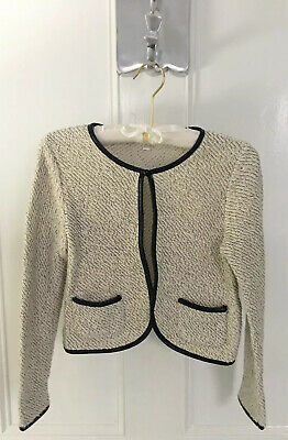 Girls STAR BY JULIENMACDONALD Bolero  Tweed And Faux Leather Jacket Age 12-13
