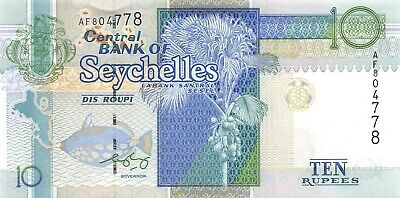 Seychelles P-36 10 Rupees Year ND 2010 Uncirculated Banknote