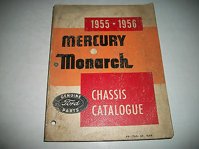 1955 1956 Mercury & Monarch Chassis Parts  Catalog Illustrated