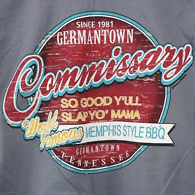 Germantown Commissary Bbq Memphis Tn T Shirt Tee Tennessee Size L Large
