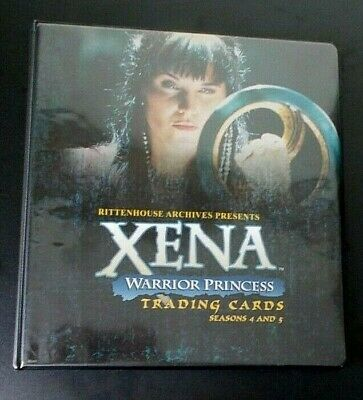 Xena Warrior Princess Seasons 4 and 5 trading cards binder album with BP1 card