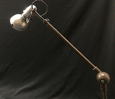 VINTAGE WORKING  INDUSTRIAL ANGLEPOISE LAMP  Light Factory Desk Old Bench