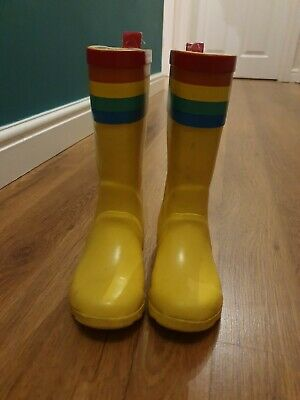 Little Bird By Jools oliver mothercare Rainbow Yellow Wellies. Size 9/26.5