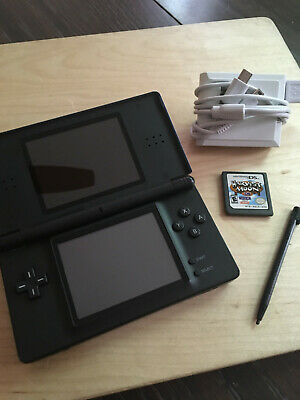 Nintendo DS Lite Launch Edition Cobalt and Black Handheld System w/ Charger