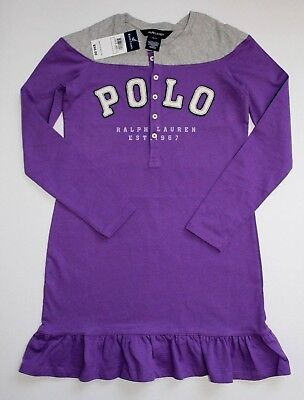 Ralph Lauren Girls Dress Long Sleeve Purple Gray Size S/7/ NWT