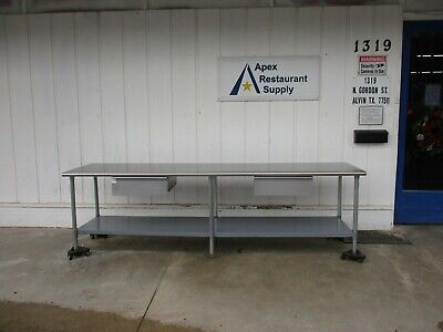 10 Foot  Stainless Work Table with 2 drawers #4797