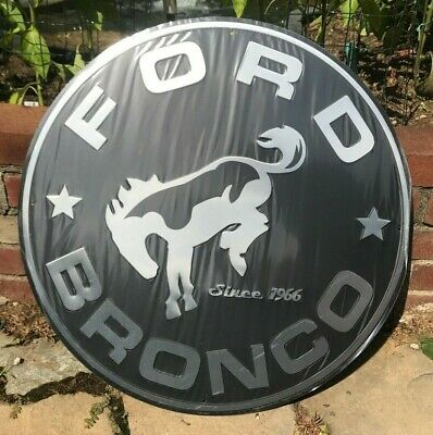"""24"""" Ford Bronco Embossed Metal Sign New / Ford Bronco Sign / Bronco Signs"""