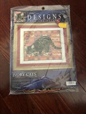 Ivory Cats Tabby Cat Octopussy Tiger Lesley Anne Counted Cross Stitch Kit 5605