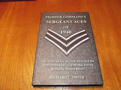 Sergeant Aces of 1940 RAF WW2 Battle of Britain book- Author & B.O.B Vets signed