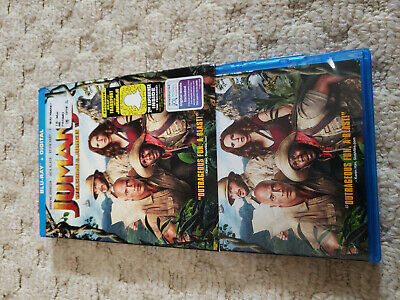 Jumanji Welcome to the Jungle Blu ray watched once + slip cover