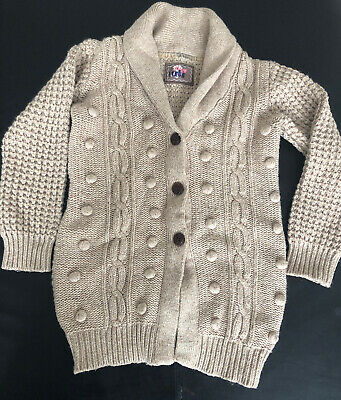 Mothercare girls knitted  buttons jumper  age 5-6 years