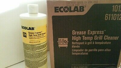 Lot 6 bottles 32 fl oz each ~ Case Ecolab Grease Express High Temp Grill Cleaner