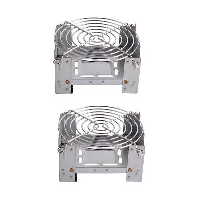 2Pcs Portable Alcohol Stove Heater Stainless Camping Spirit Burner Cooker