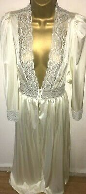 Charnos Thicker Nylon Cream Robe / Dressing Gown Size 10/12