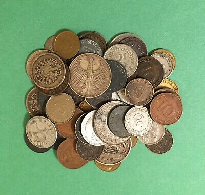 German Coin Lot (59 Pc.) Mixed Dates & Denominations-Some Silver-Some Nice Coins