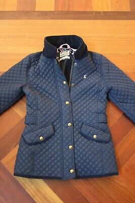 Girls Joules Navy Blue Quilted Jacket, Size 11-12