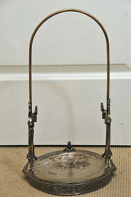 Taunton Silver Plate Co Water Pitcher Ornate Tilting Water Pitcher Stand Only