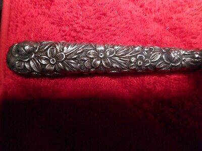 S. Kirk & Son Bottle Opener W/ Heavy Floral Repousse Sterling Silver Handle