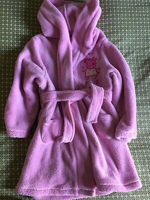Lovely Pink Pepper Pig Dressing Gown Age 2-3