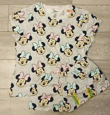 Primark Disney Minnie Mouse PJ Pyjamas Ladies Girls Mis-matched Set 12 To 16
