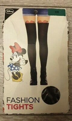 S/M Primark Ladies Girls Emoji Fashion Tights  Minnie Mouse New Disney