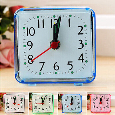 Square Small Bed Compact Travel Quartz Beep Alarm Clock Cute Room  Office Decor