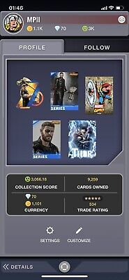Topps Marvel Collect Account