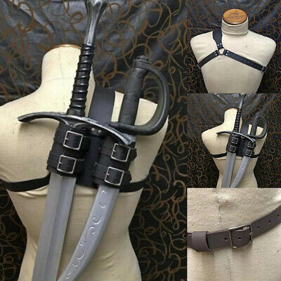cosplay. Leather double back scabbard for latex sword witcher style LARP