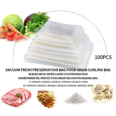 100 Quart  Vacuum Seal Food Storage Bags Vacuum Sealer Bags Embossed New