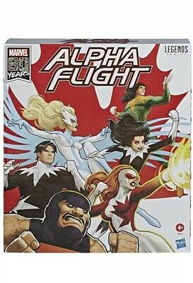 Marvel Legends Alpha Flight 6 Pack Series 6 Inch Amazon Exclusive Hasbro