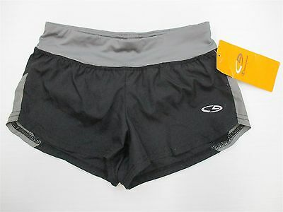 new CHAMPION #SH6095 Girls Youth Size S Duo Dry Athletic Running Black Shorts