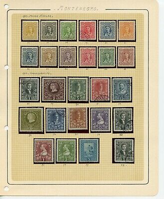 MONTENEGRO 1907-1910 Stamps Collection