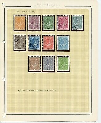 MONTENEGRO 1913 Stamps Collection
