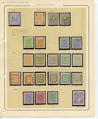 MONTENEGRO 1895-1907 Stamps Collection Including TAX Stamps