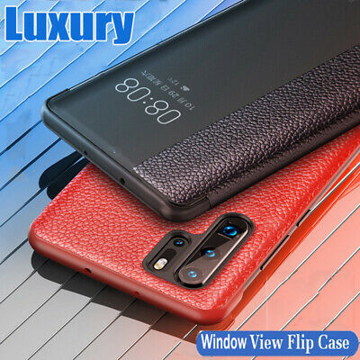 For Huawei Mate 30 20 Lite P20 P30 Pro Smart Window View Leather Flip Case Cover