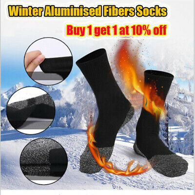 35 Below Aluminised Fibers Winter Socks Thermal Long Sock Warm Women Man Black
