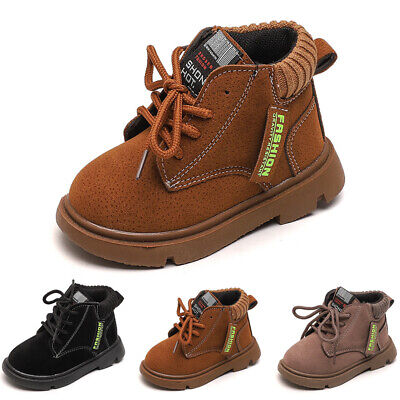 Clearance 40% Off Infant Kids Boy Lace-Up Ankle Boots Girl Army Combat Shoes