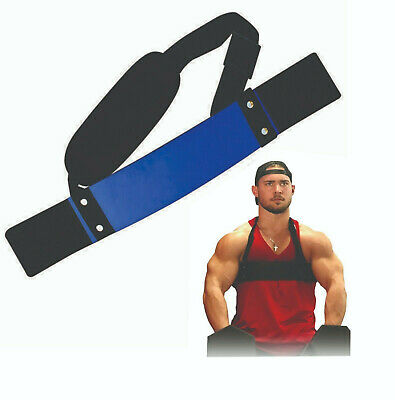 Weight Lifting Barbell Bar Arm Blaster Biceps Isolator Workout gym Fitness