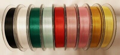 Sewing-Craft-Dressmaking BERISFORDS DOUBLE FACED SATIN RIBBON 15mm 9 COLOURS