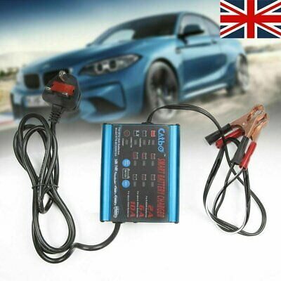Smart Car Battery Charger 12V 6V Intelligent Automobile Motorcycle 2A 6A 10A UK