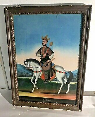 Antique Chinese Reverse Painting For India Trade 19th Century