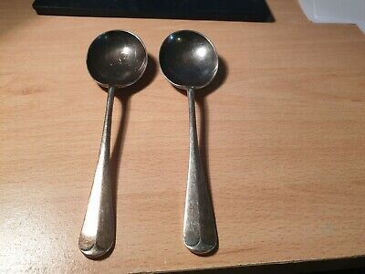 2 x Goldsmiths & Silversmiths Co Ltd Silver Regent plate Soup Spoons