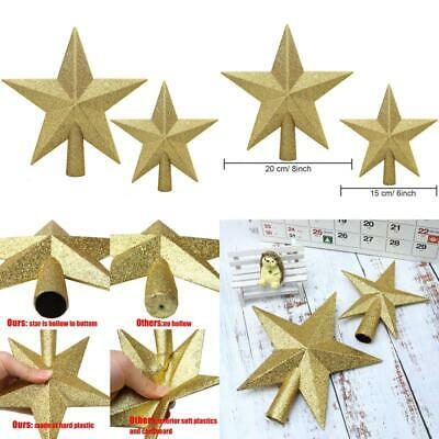 Aneco 2 Pack Glittered Christmas Tree Topper Star Treetop For Christmas